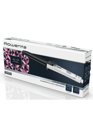 Rowenta Ondulator  , 200 grade, Invelis Ceramic Tourmaline, Diametru 25 mm, Alb Femei