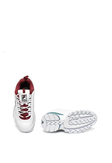 Fila Pantofi sport de piele ecologica si material textil, cu talpa striata Disruptor Femei