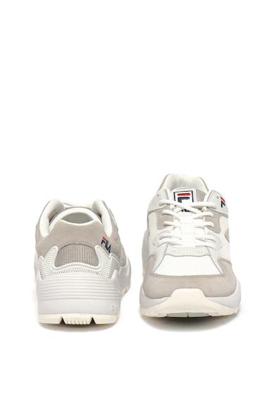 Fila Pantofi sport de piele cu insertii de piele intoarsa si plasa Vault Barbati