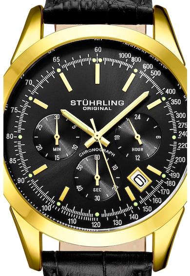 Stuhrling Ceas cronograf cu o curea de piele Barbati