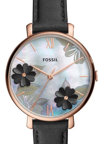 Fossil Ceas quartz cu cadran cu model floral Femei