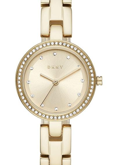 DKNY Ceas analog decorat cu cristale Femei