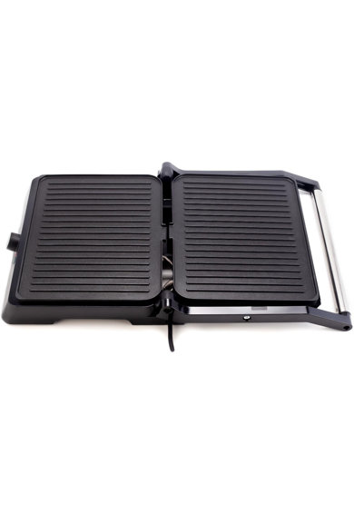 Daewoo Grill electric  , 2400 W, placi antiaderente, suprafata de gatire 29x23 cm, termostat, Negru Femei