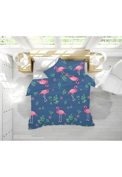 Alcam Set  perna microfibra 50x70 cm si pilota matlasata 140x200 cm, Pink Flamingo Femei