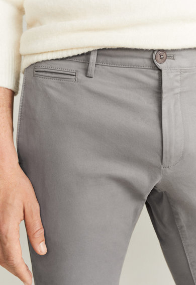 Mango Pantaloni chino slim fit Barna Barbati