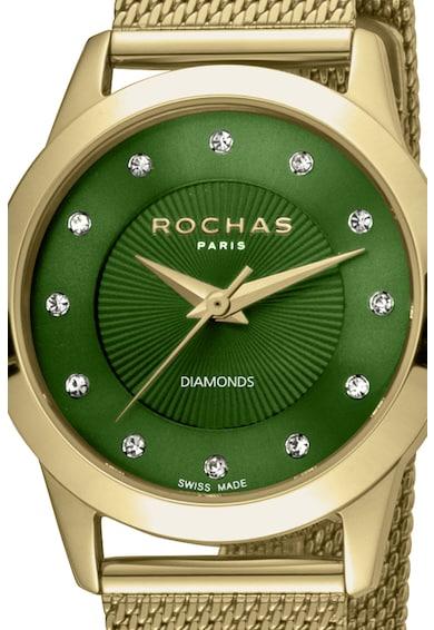 ROCHAS PARIS Ceas decorat cu 12 diamante Femei