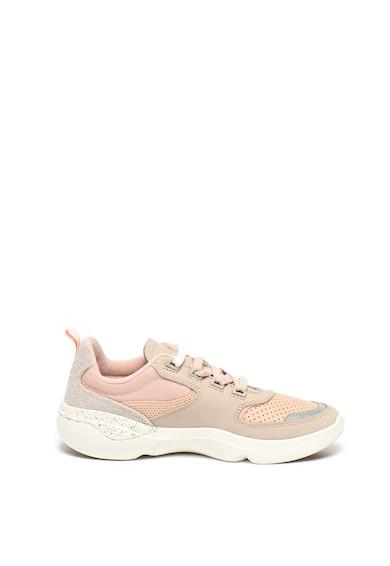 Lacoste Pantofi sport cu amortizare si garnituri de piele intoarsa Femei