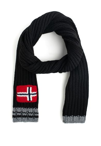 Napapijri Fular din amestec de lana, cu detaliu steag norvegian Foreil Barbati
