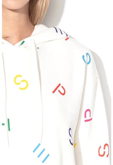 Esprit Суитшърт с контрастно лого и качулка Жени