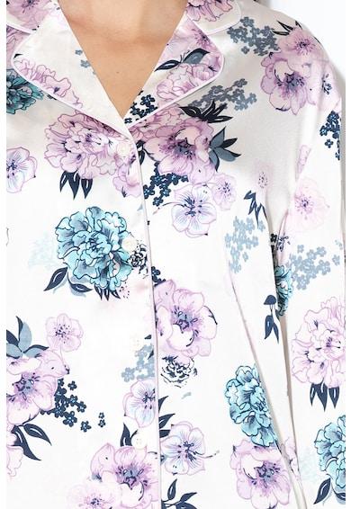 Undercolors of Benetton Camasa de pijama din satin, cu model floral Femei