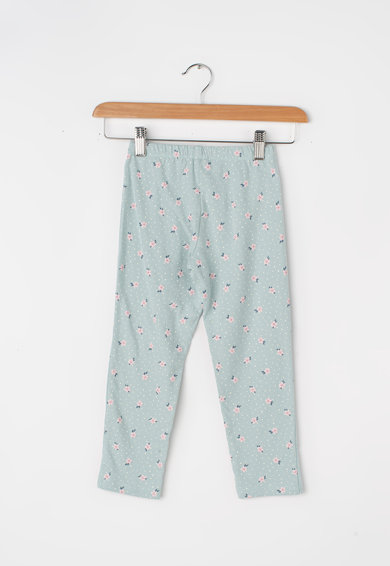 Undercolors of Benetton Pijama cu imprimeu grafic si floral Fete
