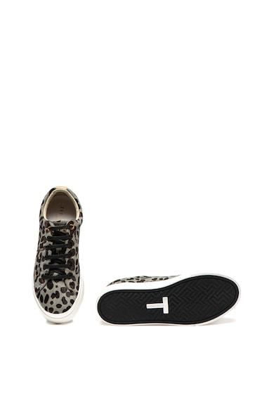 Ted Baker Pantofi sport din piele cu par scurt si animal print Lephie Femei