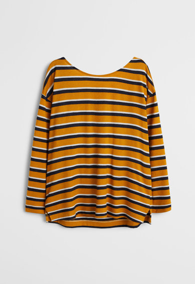 VIOLETA BY MANGO Фино плетен раиран пуловер Twister Жени