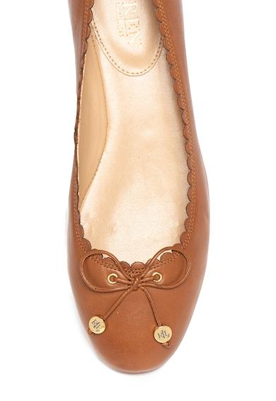 Lauren Ralph Lauren Polo Ralph Lauren, Balerini de piele cu funda aplicata Glennie Femei