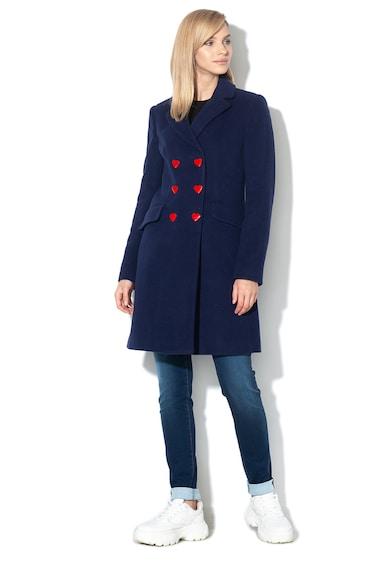 Love Moschino Palton cu doua randuri de nasturi, din amestec de lana Femei