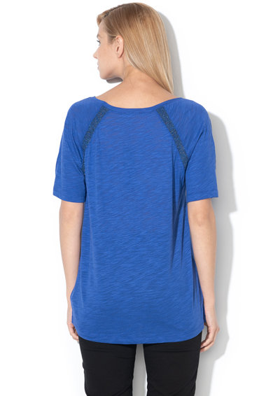 Sisley Tricou din amestec de modal, cu insertii de lurex Femei