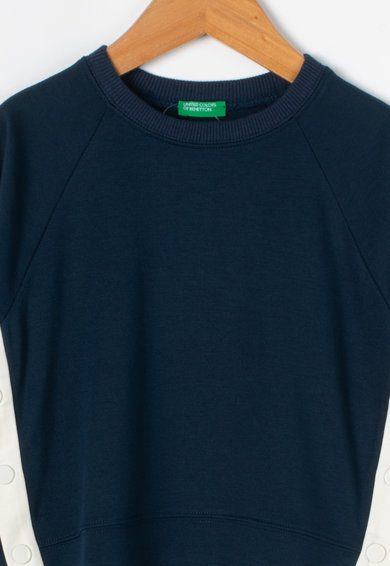 United Colors of Benetton Bluza cu capse in partile laterale Fete