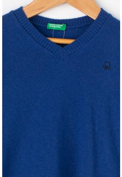 United Colors of Benetton Pulover din amestec de lana, cu decolteu in V Baieti