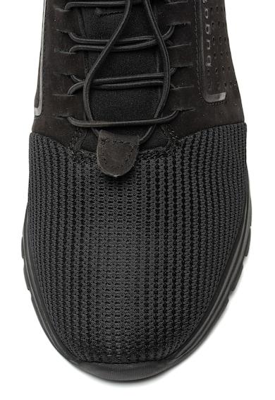 Bugatti Pantofi sport de piele nabuc si plasa Barbati
