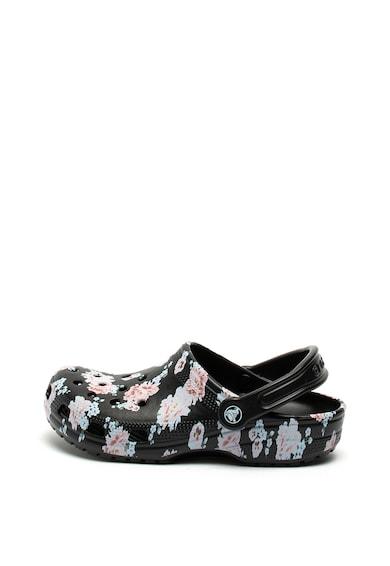Crocs Saboti slingback cu model floral Classic Femei