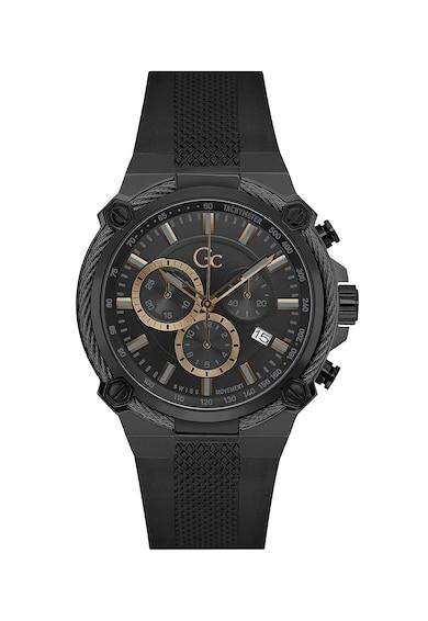 GC Ceas cronograf cu o curea de silicon Barbati