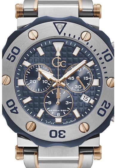 GC Ceas cronograf cu cadran cu aspect texturat Barbati
