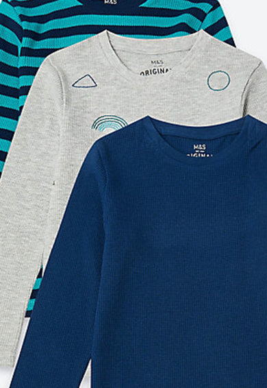 Marks & Spencer Set de bluze din bumbac - 3 piese Baieti
