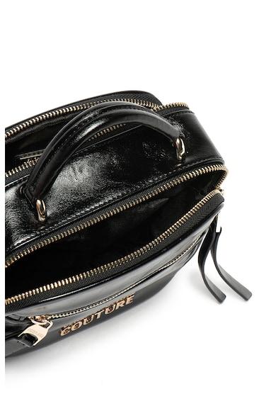 Versace Jeans Couture Geanta crossbody de piele ecologica, cu aplicatie metalica cu logo Femei