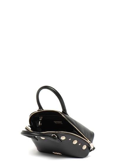 Versace Jeans Couture Geanta crossbody de piele ecologica, cu tinte si logo metalic Femei