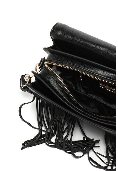 Versace Jeans Couture Geanta de piele ecologica, cu bareta de umar si franjuri Femei