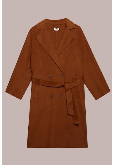 Oltre Palton din amestec de lana, cu doua randuri de nasturi si cordon Femei