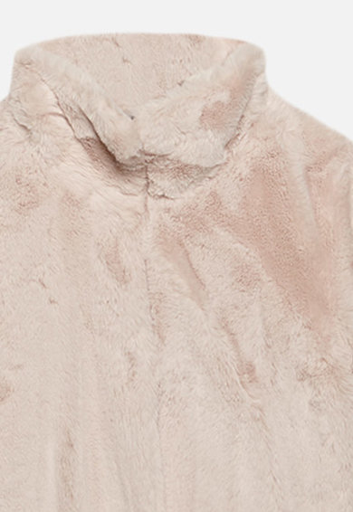 Motivi Haina de blana sintetica cu guler mediu Femei