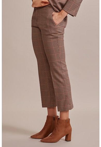 Oltre Pantaloni crop cu croiala ampla si model in carouri Femei