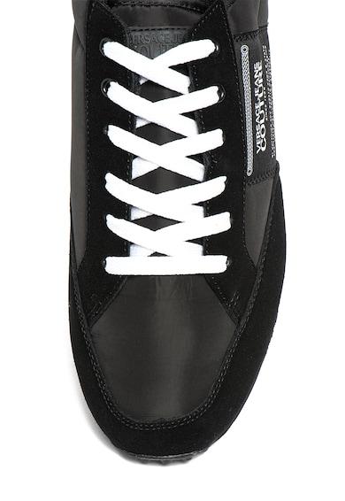 Versace Jeans Couture Pantofi sport cu garnituri din piele intoarsa Barbati