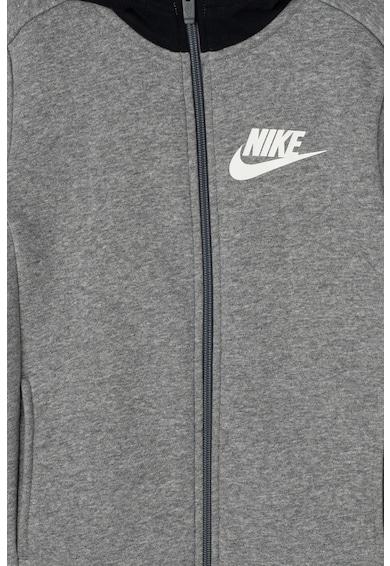 Nike Hanorac cu fermoar si captuseala din material fleece Core Amplify Baieti