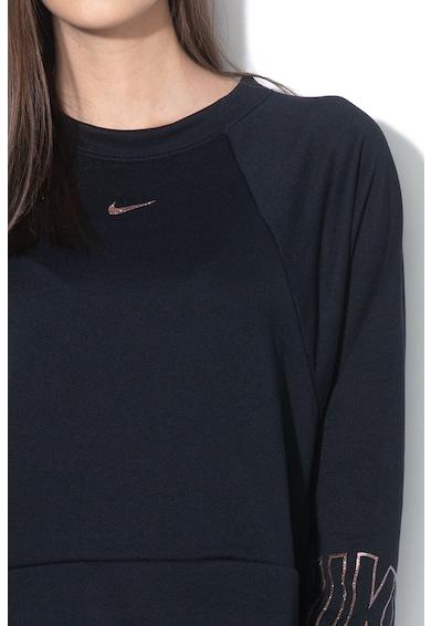 Nike Bluza crop lejera realizata cu Dri-Fit, pentru fitness Femei