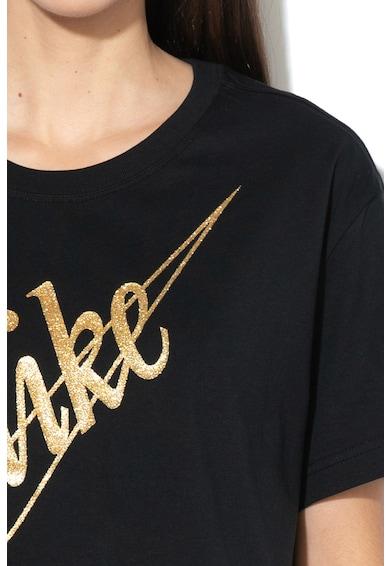 Nike Tricou crop lejer cu imprimeu logo stralucitor Femei