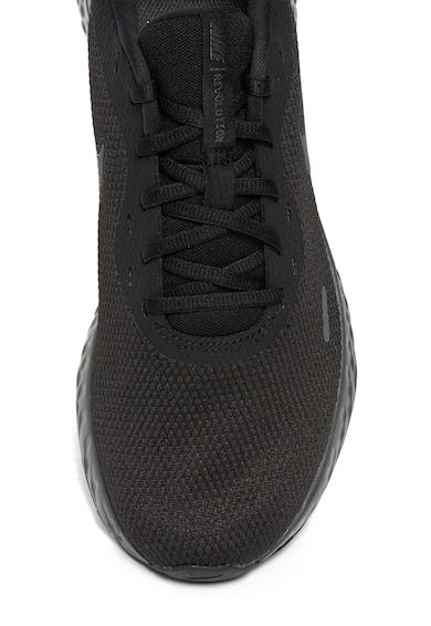 Nike Pantofi cu imprimeu logo, pentru alergare Revolution 5 Barbati