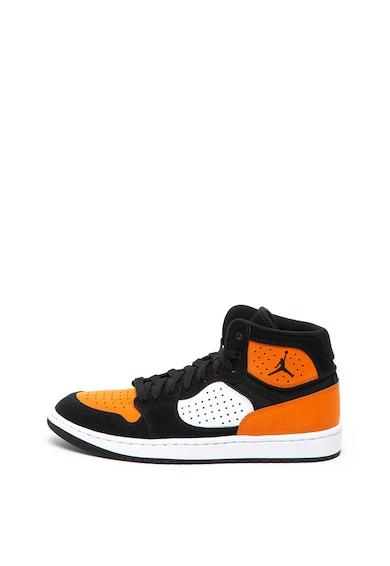 Nike Pantofi sport mid-high cu garnituri de piele peliculizata Jordan Access Barbati