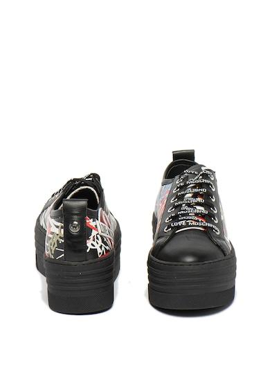 Love Moschino Pantofi sport flatform de piele Femei