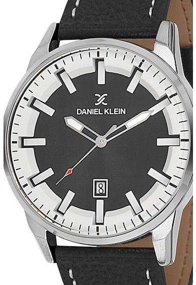 DANIEL KLEIN Ceas quartz cu o curea de piele si cusaturi contrastante Barbati