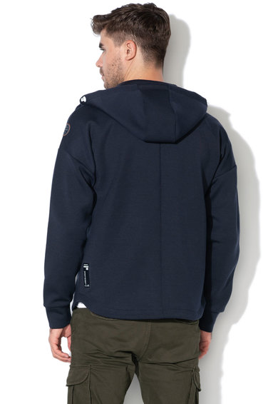 Napapijri Biel kapucnis pulóver cipzáros zsebekkel férfi