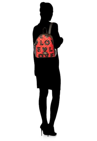 Love Moschino Rucsac de piele ecologica, matlasat, cu imprimeu logo Femei