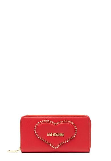 Love Moschino Portofel de piele ecologica cu detaliu logo Femei