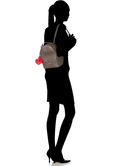 Love Moschino Rucsac mic de piele ecologica cu ciucuri detasabili Femei