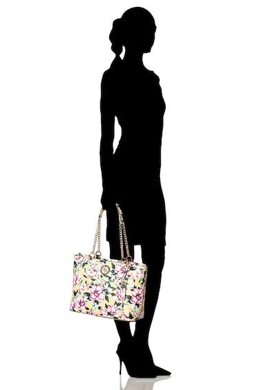Guess Geanta shopper de piele ecologica, cu imprimeu floral Landon Femei