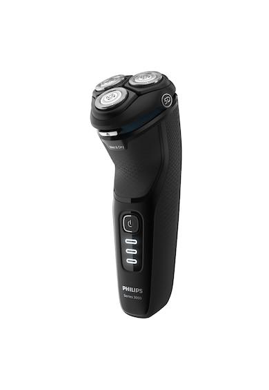 Philips Aparat de barbierit electric  Seria3000 /52, Umed/uscat, Lame PowerCut B, capete 5D Flex, 60+ min autonomie / 1h incarcare, 3 LED, Cap tuns precizie, Baterie NiMH, Husa transport, Negru Barbati