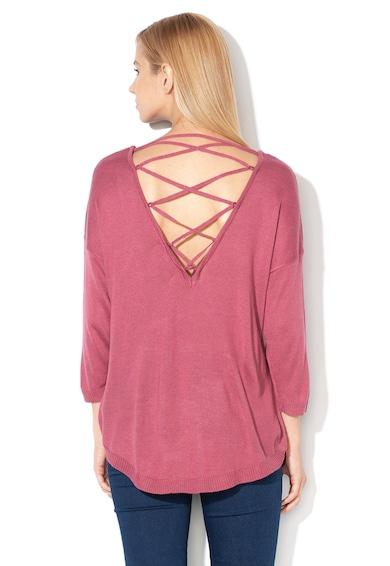 Vero Moda Pulover din tricot fin cu terminatie rotunjita si model incrucisat pe partea din spate Raini, Femei