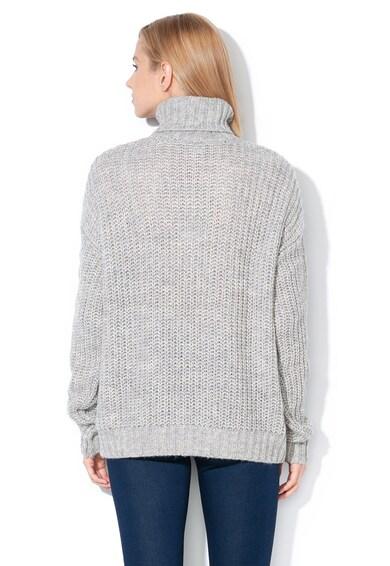 Vero Moda Pulover din tricot cu croiala lejera si guler inalt Imagine, Femei