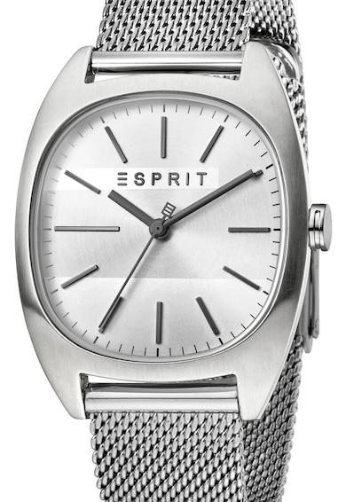 Esprit Ceas rotund cu bratara metalica cu model plasa Barbati